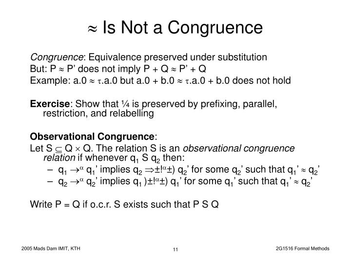  Is Not a Congruence