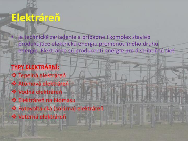 Elektráreň
