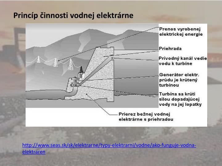 Princíp činnosti vodnej elektrárne