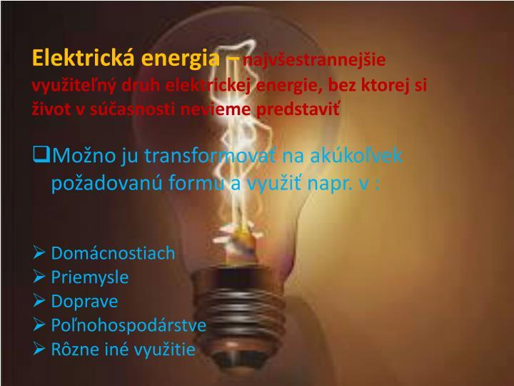Elektrická energia –