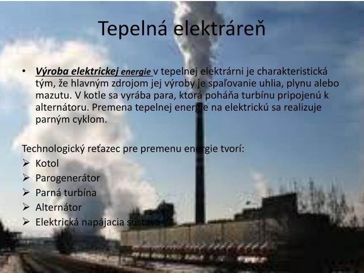 Tepelná elektráreň
