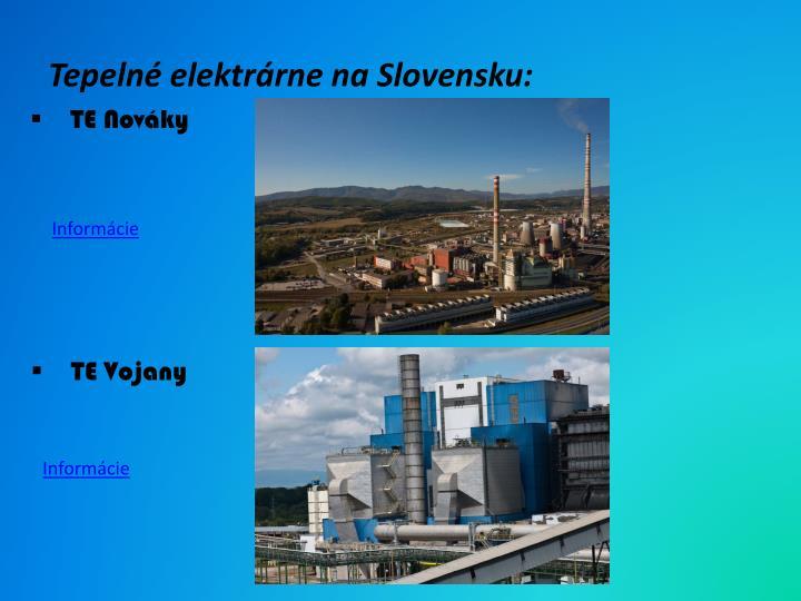 Tepelné elektrárne na Slovensku: