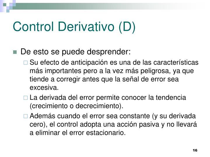 Control Derivativo (D)