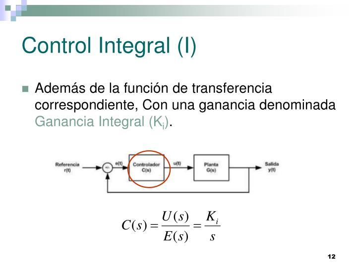 Control Integral (I)