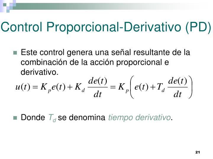 Control Proporcional-Derivativo (PD)