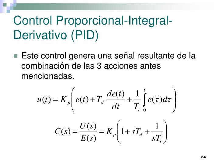 Control Proporcional-Integral-Derivativo (PID)