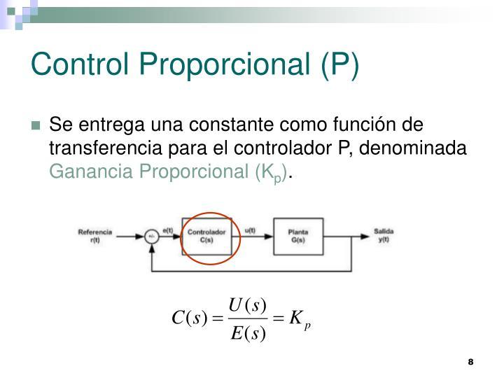Control Proporcional (P)