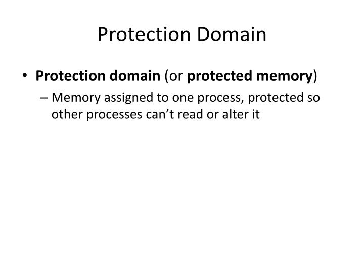 Protection Domain