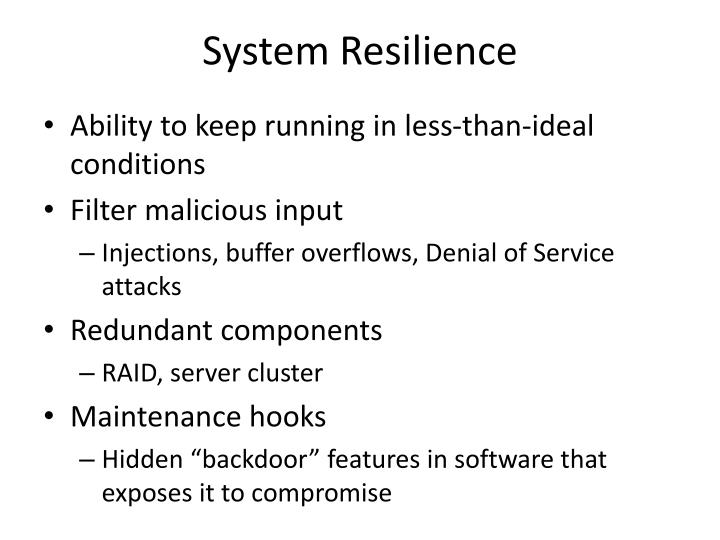 System Resilience