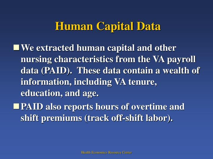 Human Capital Data