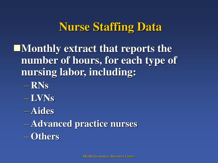 Nurse Staffing Data