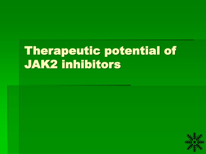 Therapeutic potential of JAK2 inhibitors
