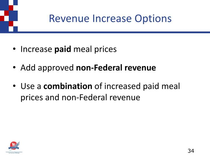 Revenue Increase Options