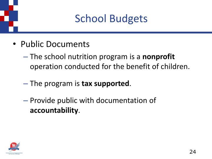School Budgets