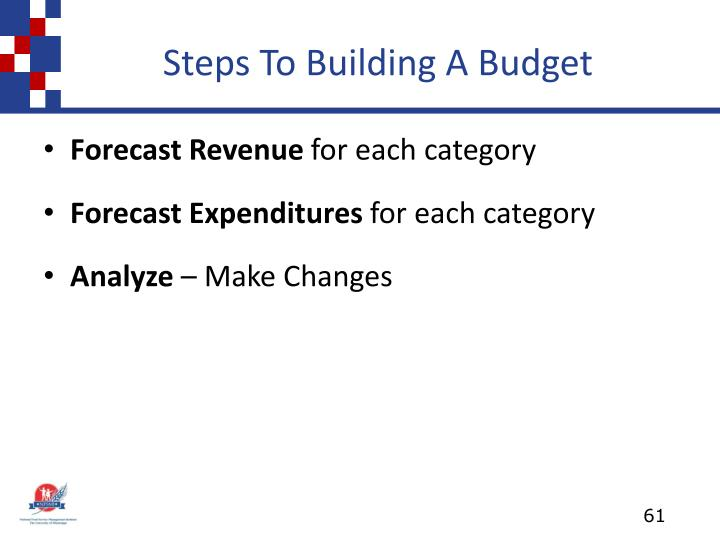 Steps To Building A Budget