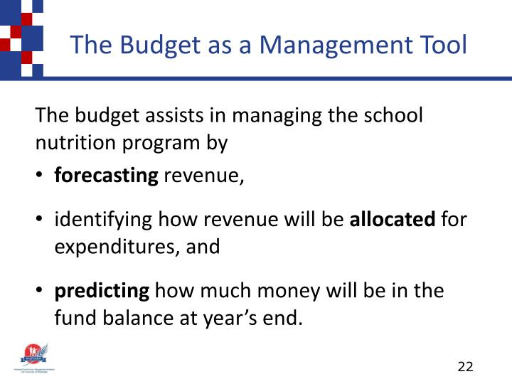 The Budget as a Management Tool