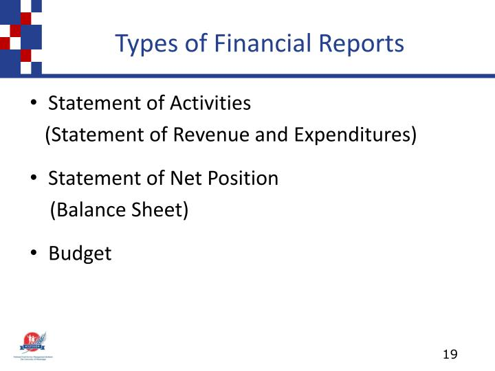 Types of Financial Reports