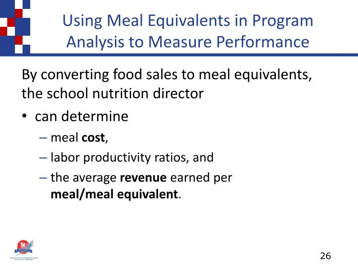 Using Meal Equivalents in Program Analysis to Measure Performance
