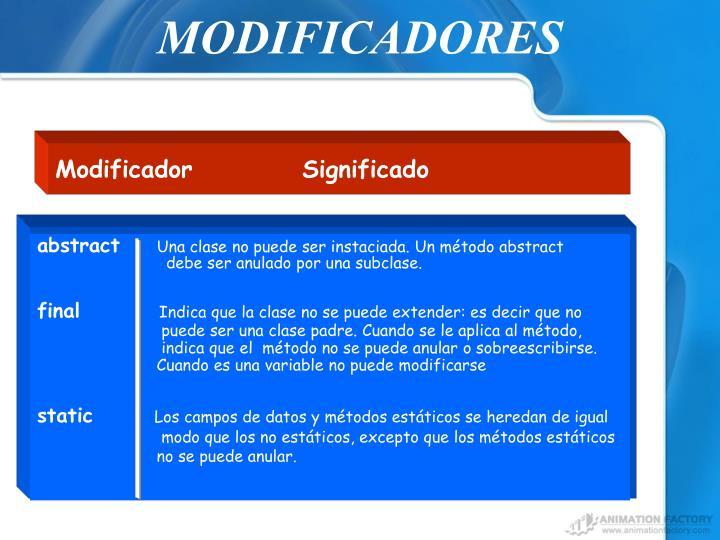 MODIFICADORES