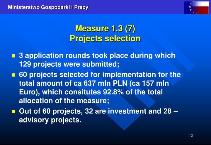 Measure 1.3 (7)