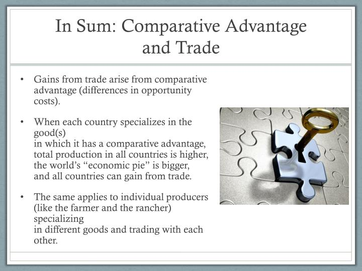 In Sum: Comparative Advantage and Trade