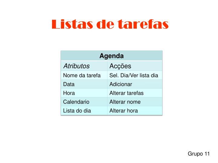 Listas de tarefas