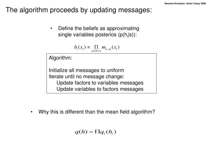 Why this is different than the mean field algorithm?