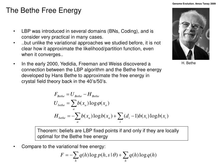 The Bethe Free Energy