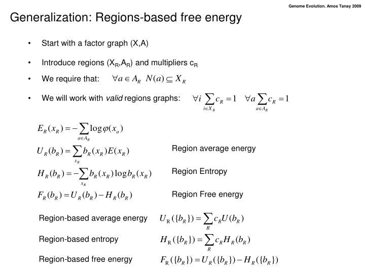 Generalization: Regions-based free energy