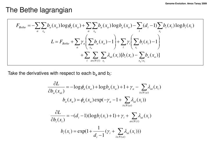 The Bethe lagrangian