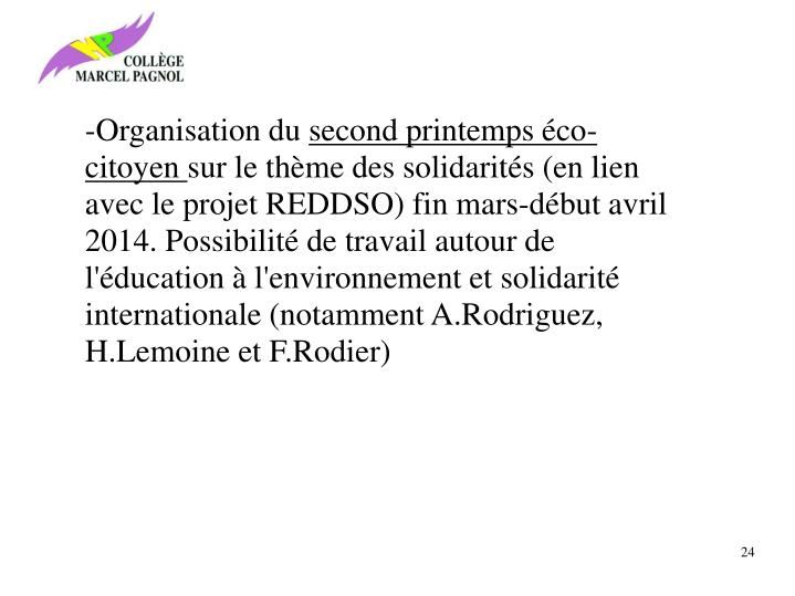 -Organisation du