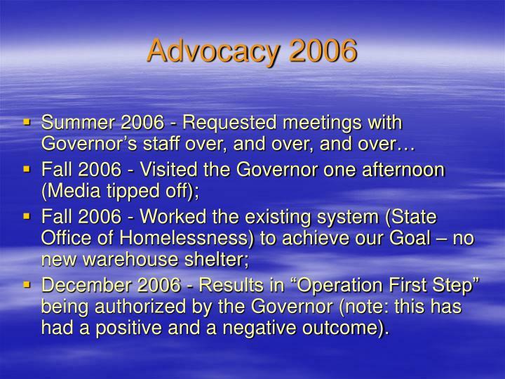 Advocacy 2006