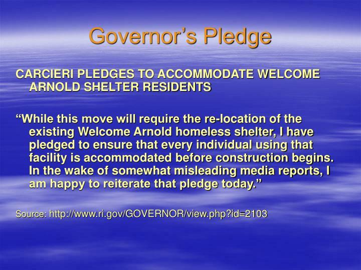 Governor's Pledge