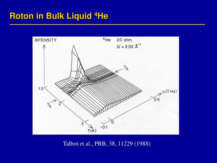 Roton in Bulk Liquid