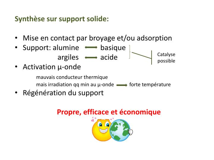 Synthèse sur support solide:
