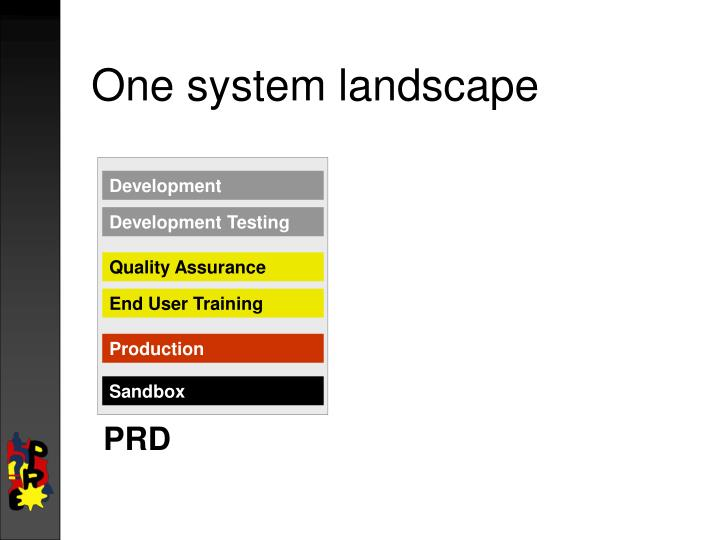 One system landscape