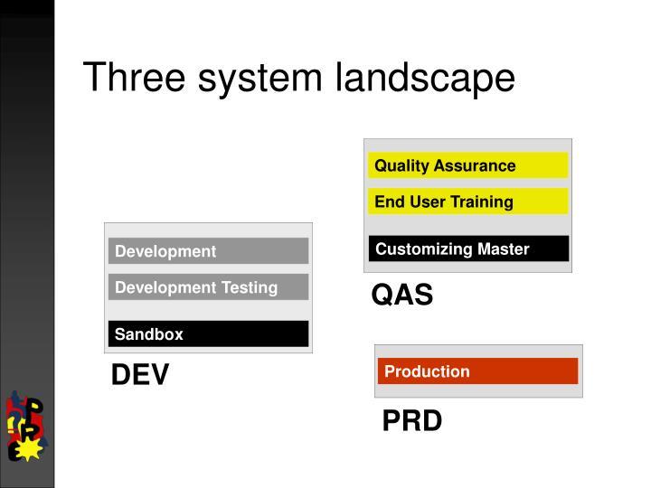 Three system landscape