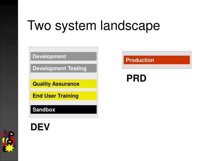 Two system landscape