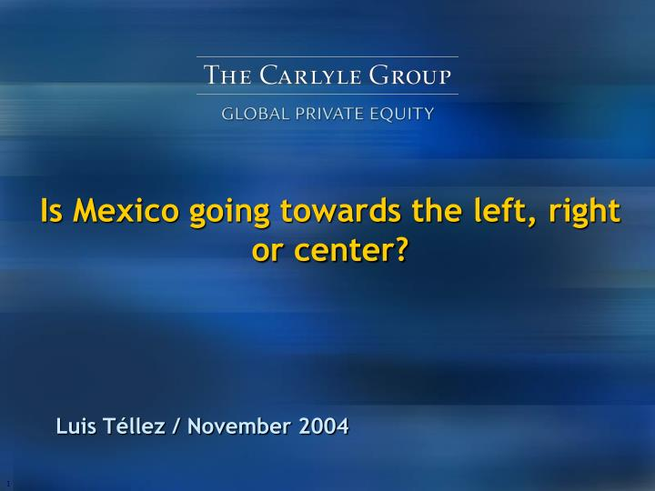 Is mexico going towards the left right or center