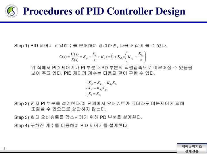 Procedures of PID Controller Design