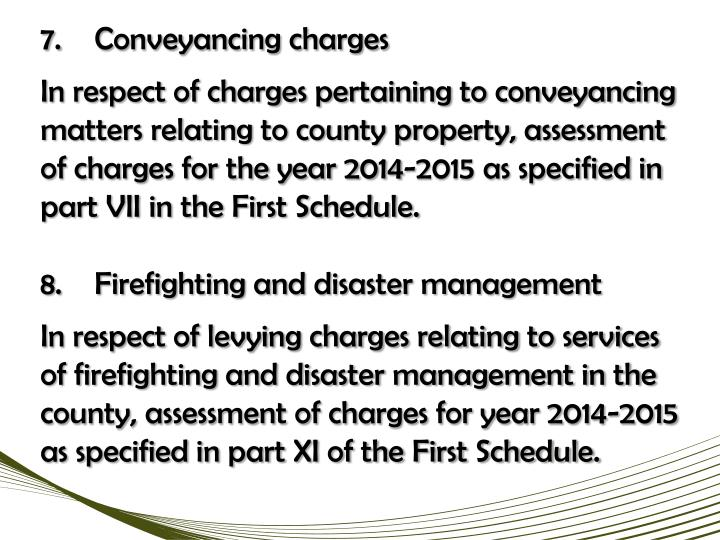 7.Conveyancing charges