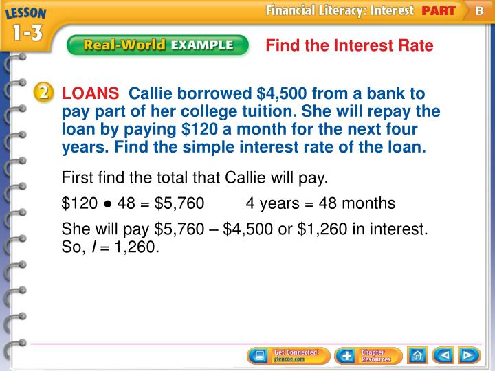 Find the Interest Rate