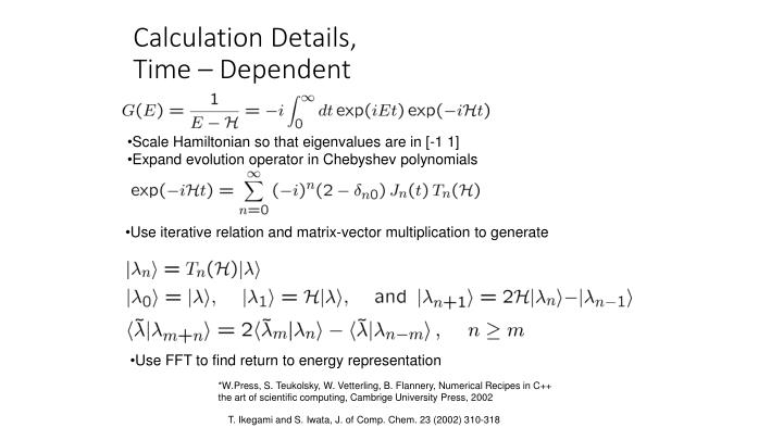 Calculation Details,