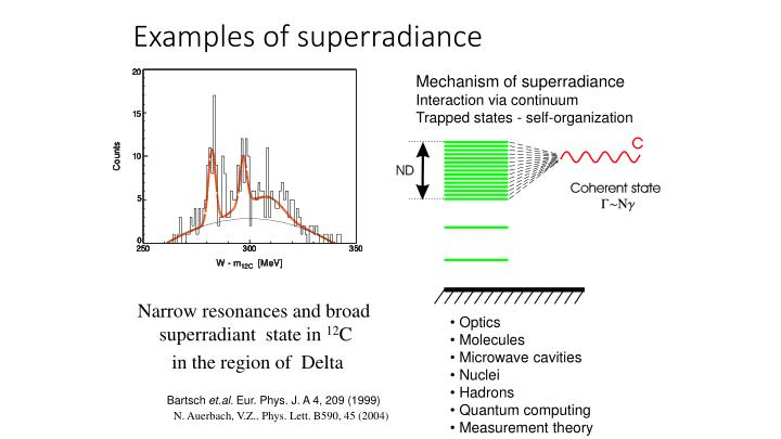 Examples of superradiance