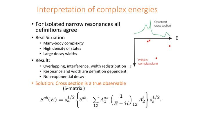 Interpretation of complex energies