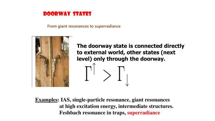 DooRWAY  STATES