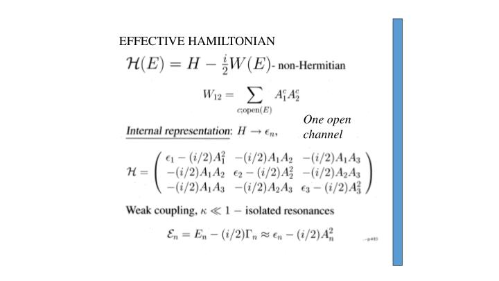 EFFECTIVE HAMILTONIAN