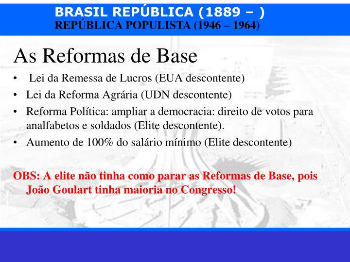 As Reformas de Base