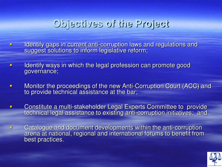 Objectives of the project
