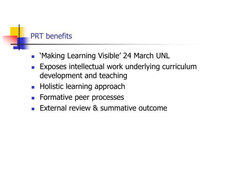 PRT benefits